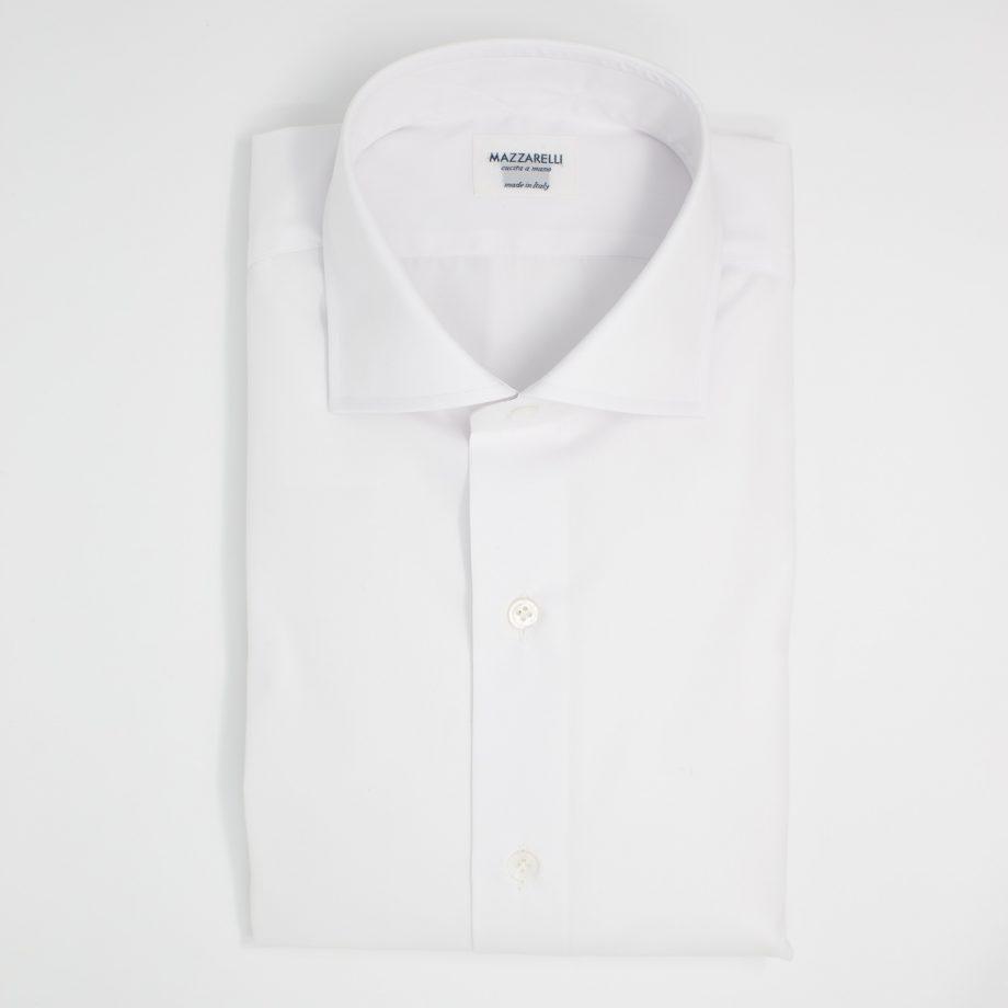 Camicia bianca in tessuto twill ELEGANCE