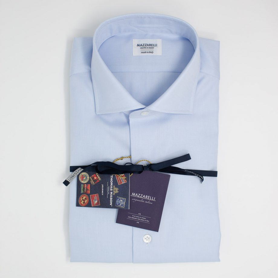 Camicia celeste – Collezione Journey di Thomas Mason