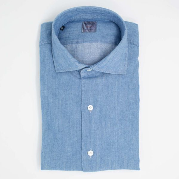 cheaper 00002 0cd64 Camicia in tessuto denim giapponese